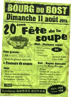 Fête de la Soupe Août 2019 - Bourg du Bost